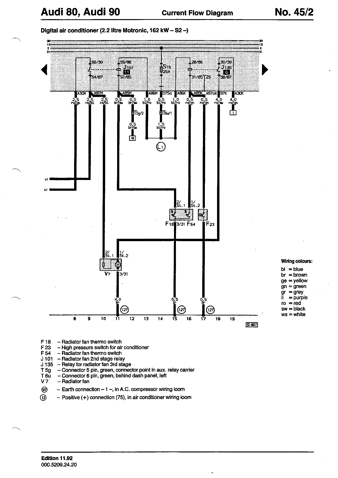 Wiring Diagrams Component Lookup Audi 80 Diagram High Pressure Switch For Air Conditioner F23