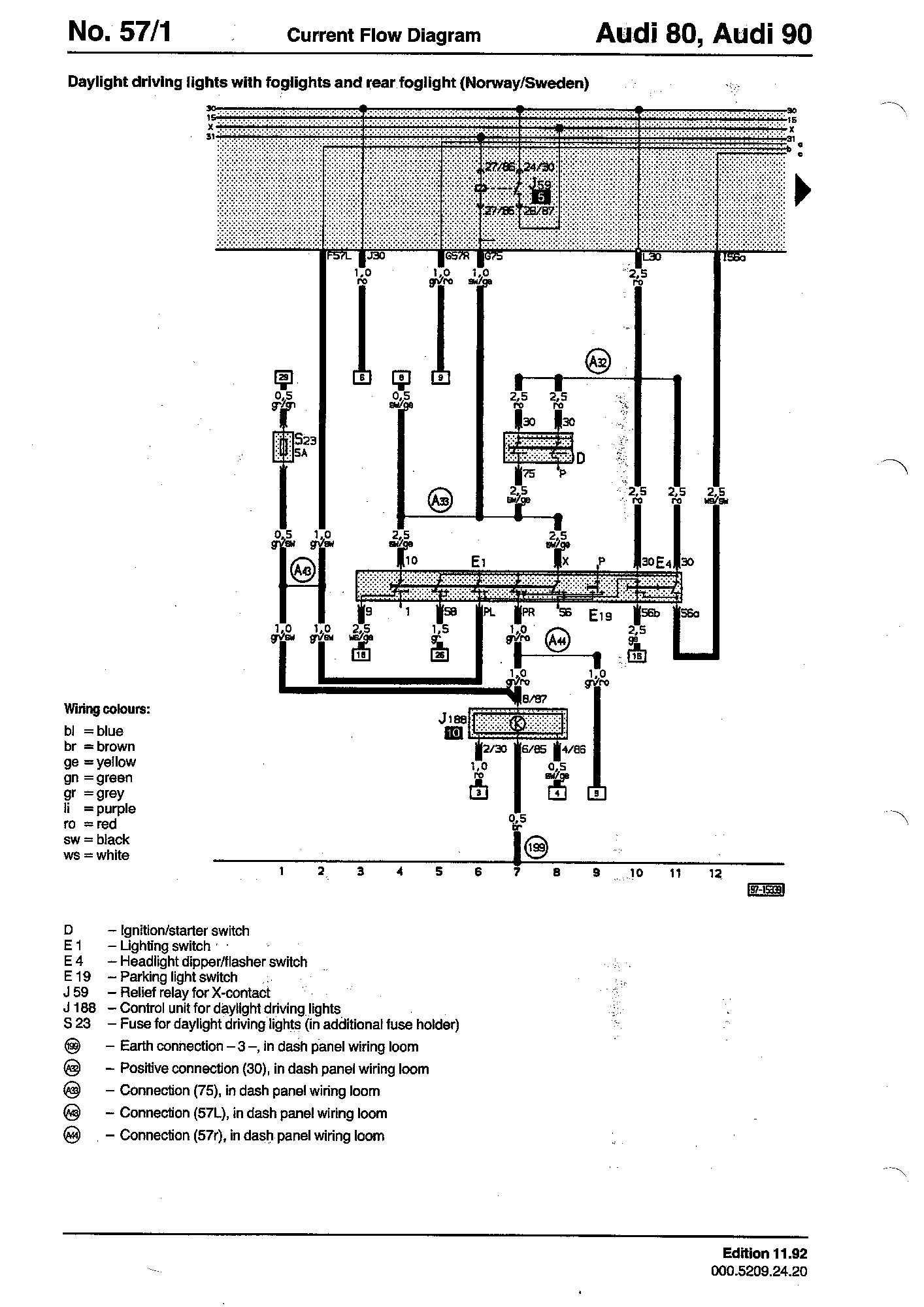Wiring Diagrams Component Lookup Hydro 84 Ignition Diagram Parking Light Switch E19